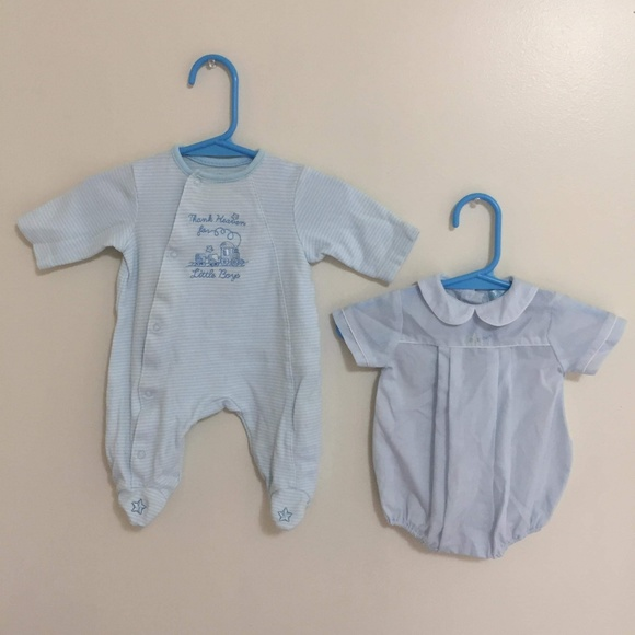 GYMBOREE ~BABY HELICOPTER FOOTED ROMPER~ SZ PREEMIE